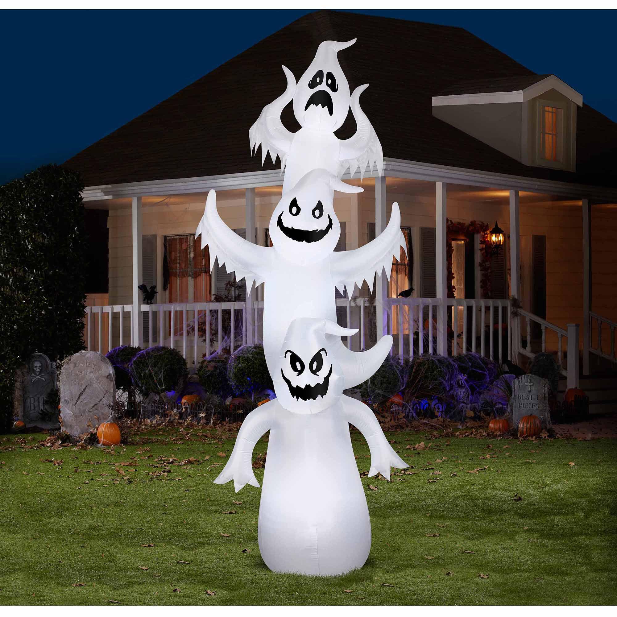 12 airblown inflatables giant ghost stack scene halloween decoration walmartcom