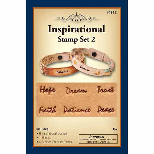 Silver Creek Inspirational Stamp Set, Braided Bracelet Blanks