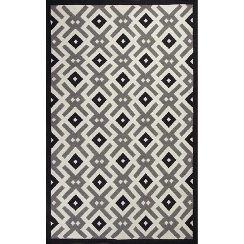 KAS Rugs Solstice Black/White Diamonds Area Rug