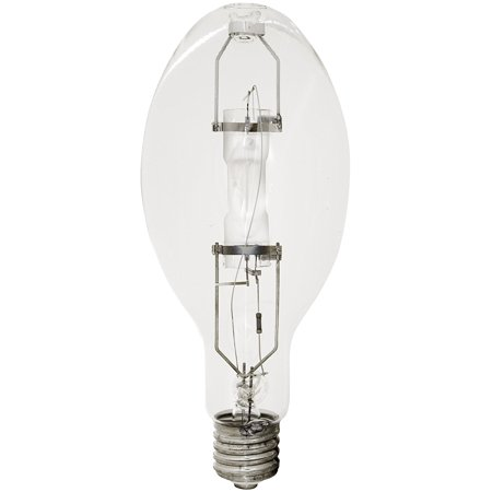 46345 Probe Start Metal Halide ED37 - 400 Watt (38,000 Lumens) Bright White (3700K) Mogul Base (E39) Base UP Position HID Lamp - Phosphor Coated, ANSI Ballast.., By TCP (Phantom 400 Watt Ballast)
