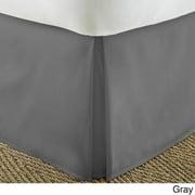 Soft Essentials Premium Pleated Bedskirt Dust Ruffle California King - Gray