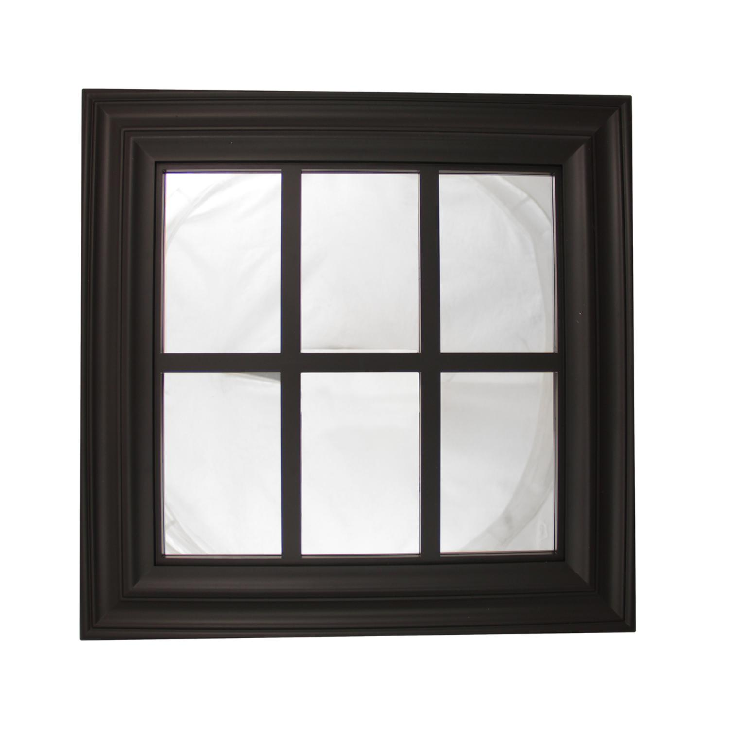 "17.25"" Jet Black Window Inspired Decorative Wall Mounted Mirror by Northlight"