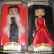 Betty Boop Long Red Dress 12'' Doll w/ Stand by M-toy
