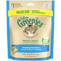 FELINE GREENIES Dental Natural Cat Treats Tempting Tuna Flavor (Various Sizes)