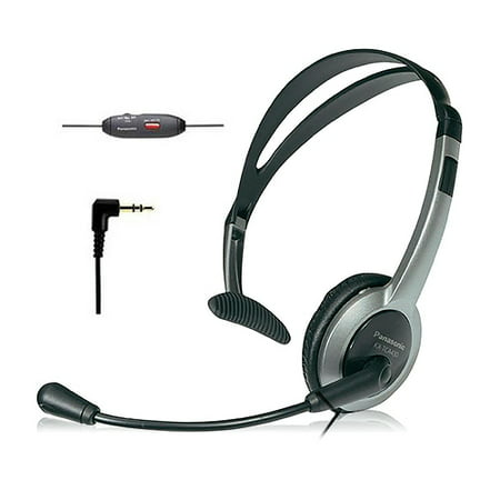 Panasonic KX-TCA430 Panasonic Foldable Over the Head Headset Panasonic Hands Free Corded Headset