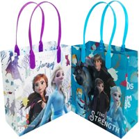 Disney Frozen Find The Strength 12 Party Favor Reusable Goodie Medium Gift Bags 8""