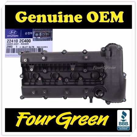 Genuine Engine Valve Cover for Hyundai 10-12 Genesis Coupe 2.0L OEM [224102C400] ()