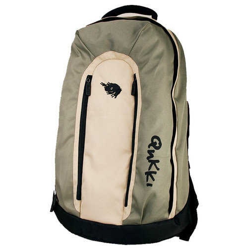 QNKKI 17'' Laptop Backpack in Lily Green and Sand