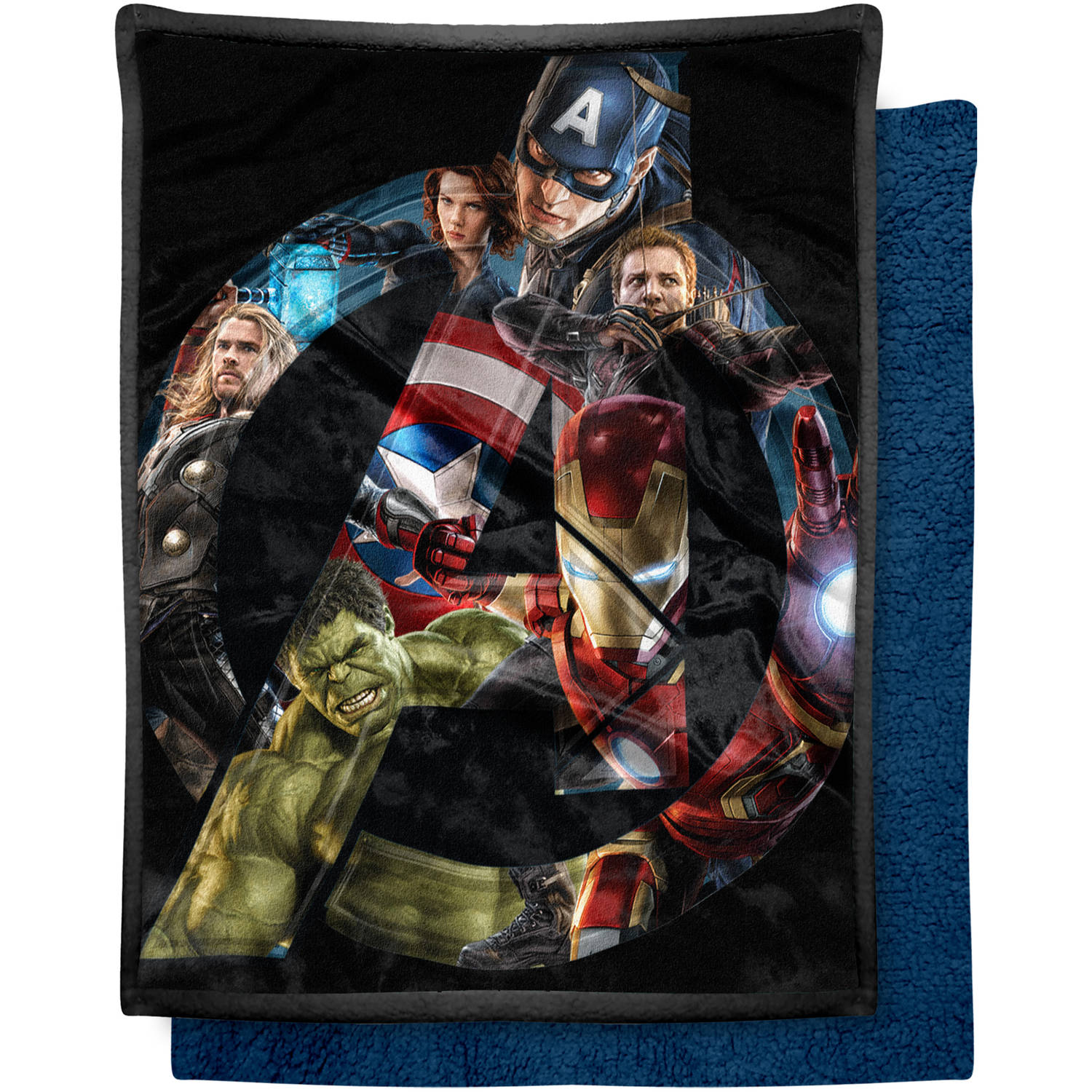 "Marvel Avengers ""A Crowd"" 46"" x 60"" Mink Sherpa Throw"