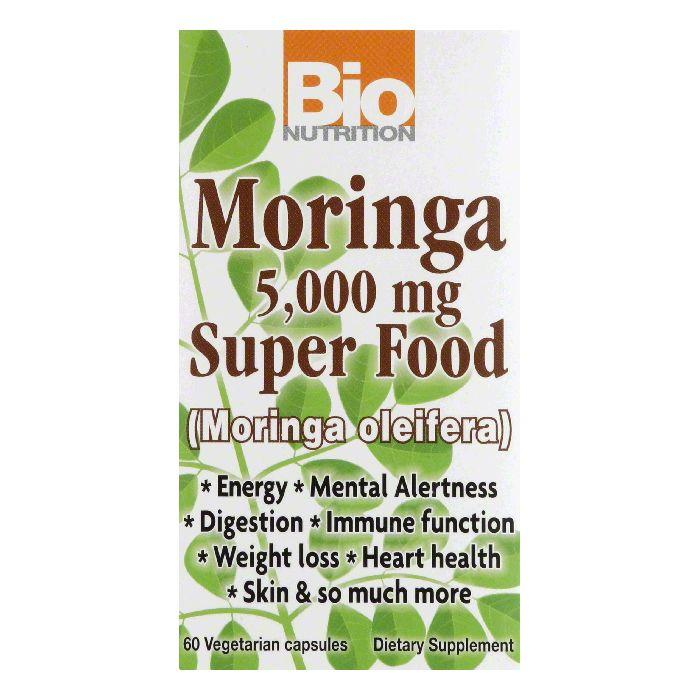 Bio Nutrition000 mg Vegetarian Capsules5 Moringa Super Food, 60 VC