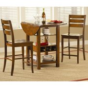 Ridgewood 3 pc. Counter Height Drop Leaf Dining Set - Mahogany