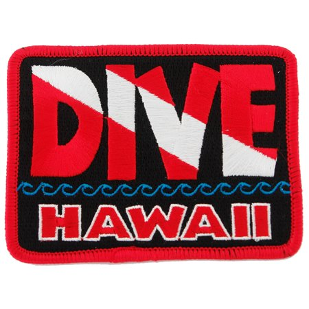 Dive Hawaii Embroidered Iron-on Scuba Diving Patch