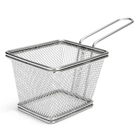 Turkey Frying Accessories - Wedlies Frying Basket Stainless Steel Mini French Deep Fryers Basket Net Mesh Fries Chip Kitchen Tool,3.9''X3.2''X2.8