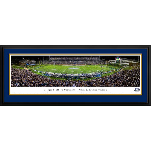 Georgia Southern Eagles Football at Allen E. Paulson Stadium - Blakeway Panoramas Print with Deluxe Frame and Double Mat