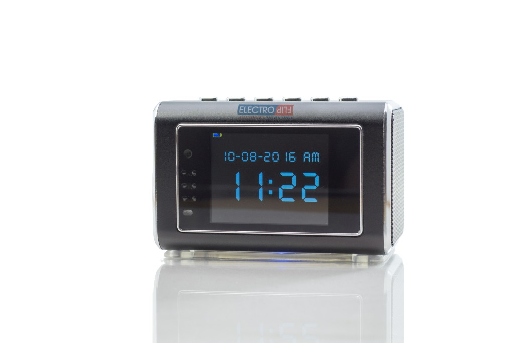 Motion Detect Video Surveillance System Infrared Mini Clock Rechargeable Camera by DVRSPK-e4f50121p