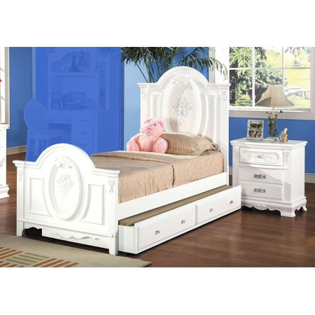 1perfectchoice flora youth girl twin bed nightstand - Solid wood youth bedroom furniture ...