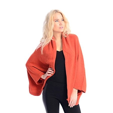 Peach Couture Solid Extra Soft Versatile Knit Sleeve Wrap Around Shawl (Wrap Arounds)