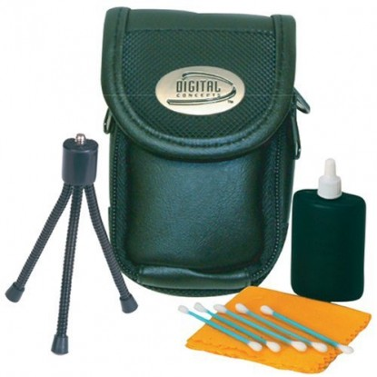 Top Brand Value Digital Camera Accessories Starter Kit with Case, Mini Tripod, Lens Cleaner, 1GB SDHC Memory Card, and 4