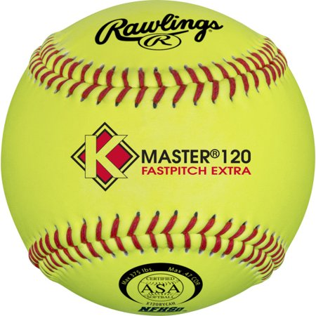 Rawlings K-Master NFHS Yellow Poly-X Core Composite Cover Official Softballs