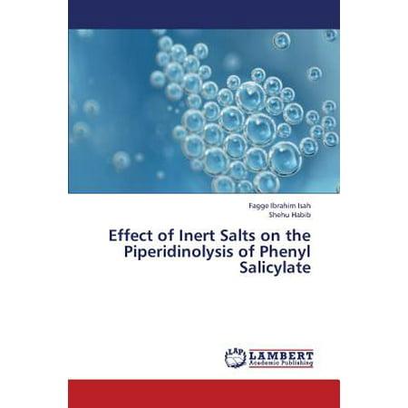 Effect of Inert Salts on the Piperidinolysis of Phenyl Salicylate