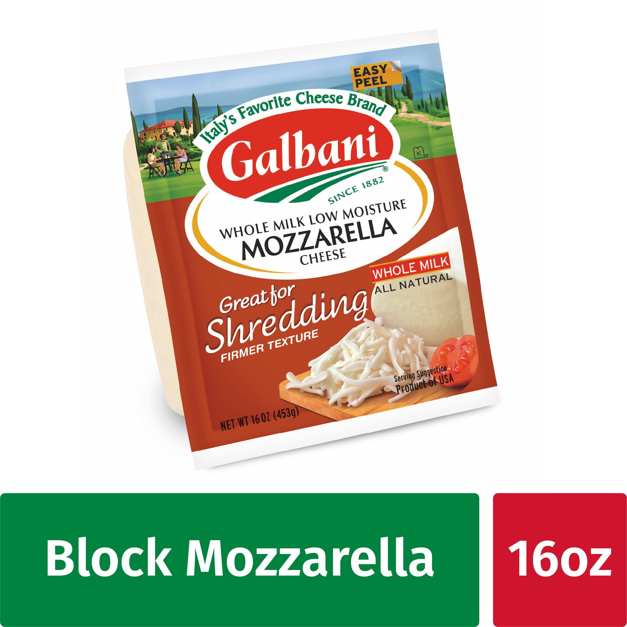 Galbani Whole Milk Low Moisture Mozzarella Cheese 16 Oz