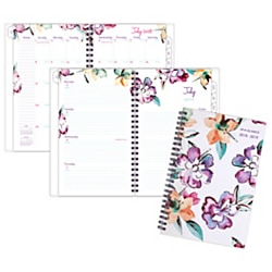 """AT-A-GLANCE® June Weekly/Monthly Academic Planner, 4 7/8"""" x 8"""", 30% Recycled, Multicolor, July 2018 to June 2019"""