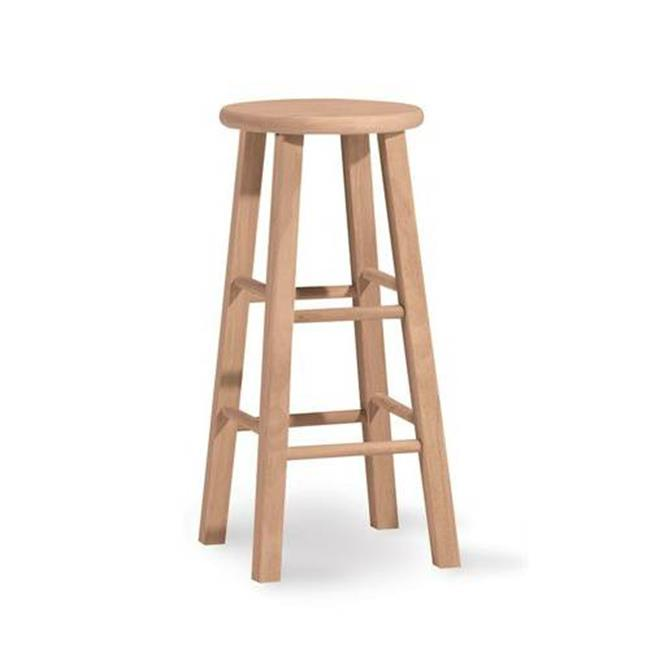Intenational Concepts 1S-530 Round top stool - 29 inch sh  Unfiinished
