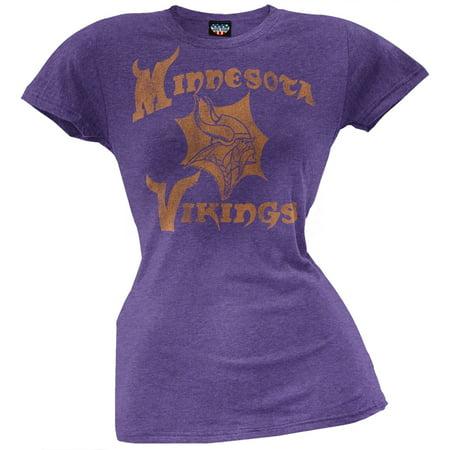 9e6322cd Minnesota Vikings - Distressed Logo Ladies T-Shirt - Walmart.com
