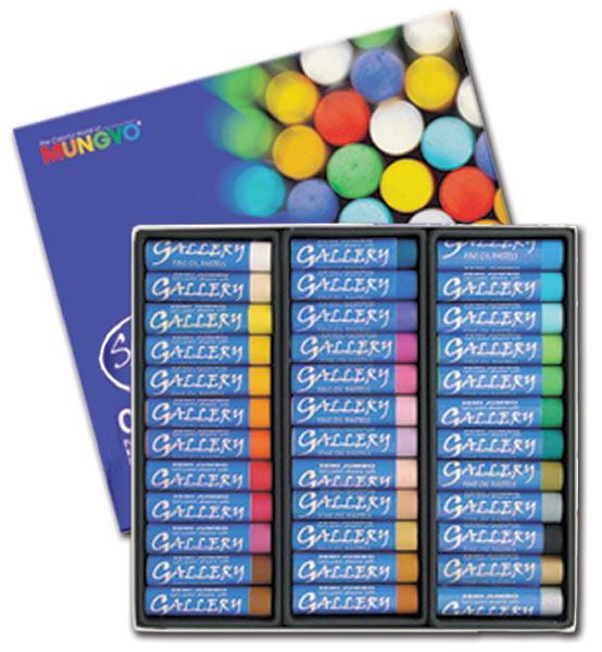 Mungyo Gallery Jumbo Oil Pastels Cardboard Box Set of 36 Jumbo - Assorted Colors