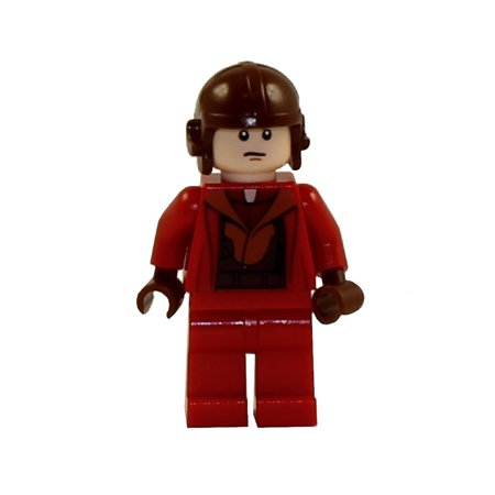 LEGO Minifigure - Star Wars - NABOO FIGHTER PILOT (Red Jumpsuit) Star Wars Naboo Fighter