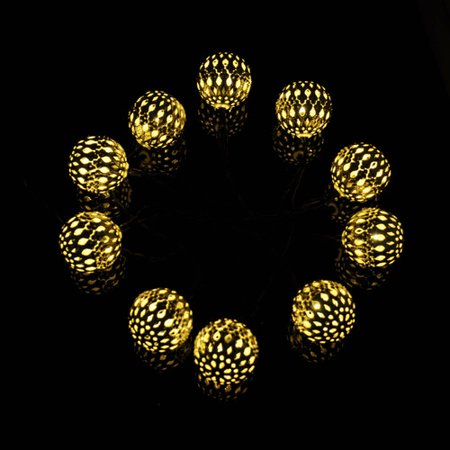 Modern String Lights Indoor : Vandue Corporation Modern Home 12-Light 13 ft. Globe String Lights - Walmart.com