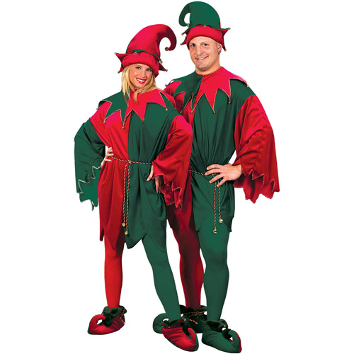 Elf with Velvet Hat and Tunic Shoes Adult Costume