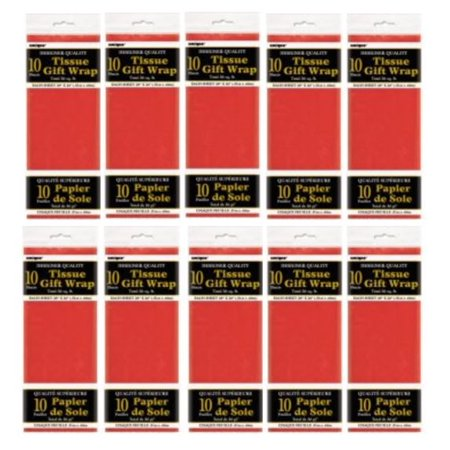 (10 Pack) Tissue Paper Sheets, 26 x 20 in, Red, 10ct - Tissue Paper Ideas For Halloween
