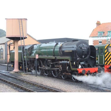 LAMINATED POSTER 70000 Britannia ran as sister locomotive 70021 Morning  Star during the 2015 Spring Gala on the West Poster Print 24 x 36