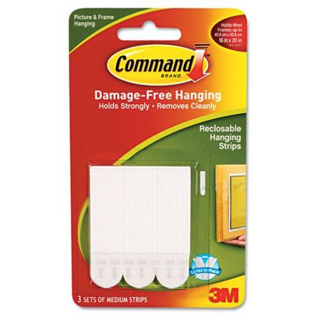 Command Picture Hanging Removable Interlocking Fasteners, 5/8
