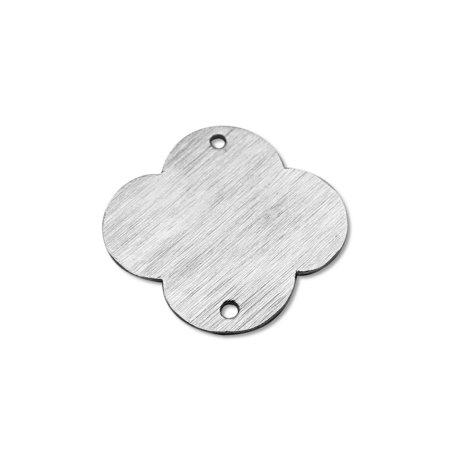 BSF-272-18MM Silver Overlay Quatrefoil Shape Chip