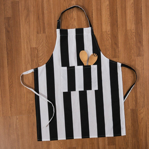 Linen Tablecloth Stripes Chef Apron