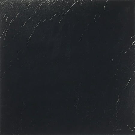 Achim Nexus Black 12x12 Self Adhesive Vinyl Floor Tile - 20 Tiles/20 sq. ft. Black Lab Tile