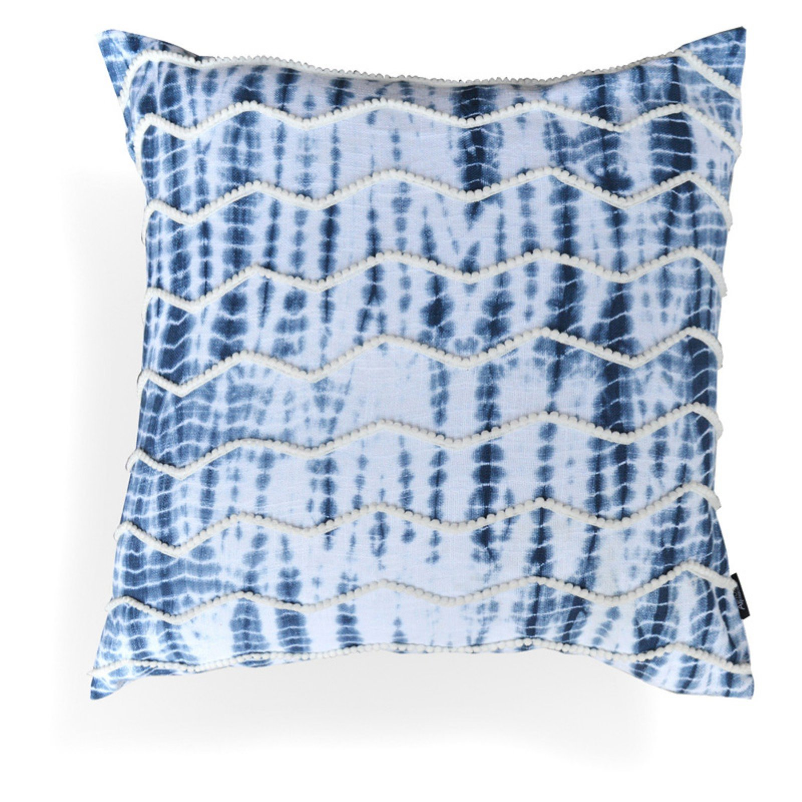 Image of A1 Home Collections Alina Blue Chevron Pillow