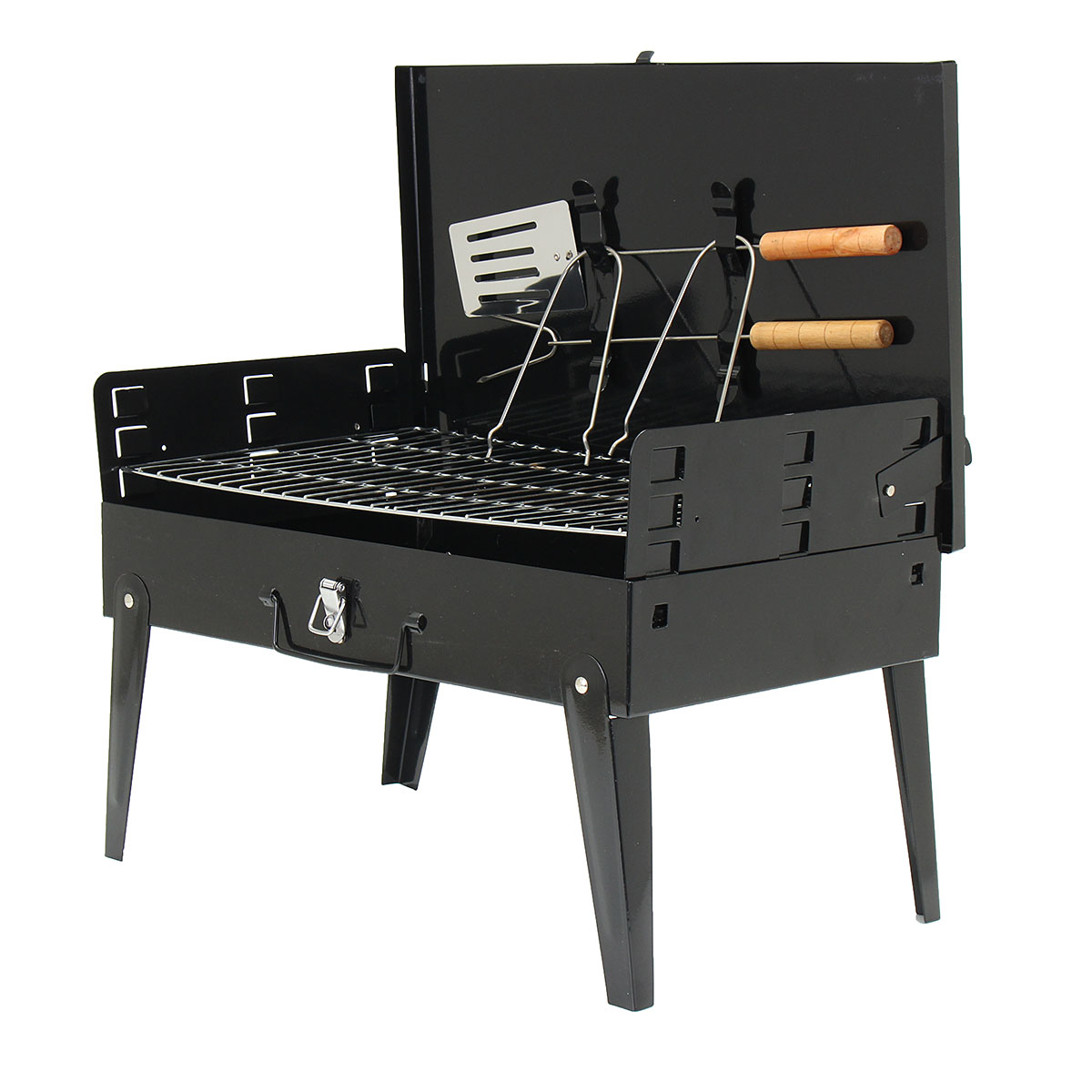 "18"" Portable Charcoal Grill BBQ Backyard Patio Outdoor Cooker Tabletop Camping Barbecue"