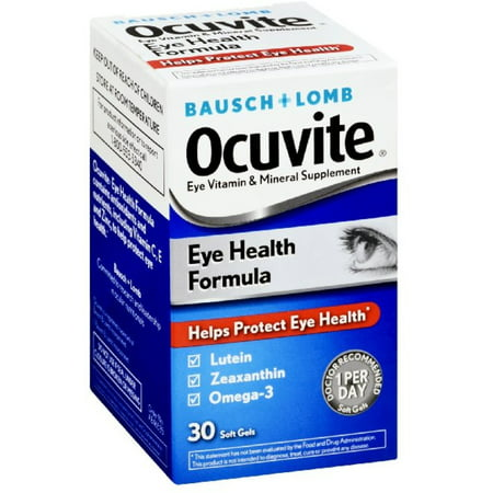 Ocuvite Eye Vitamin & Mineral Supplement Soft Gels, 30 count