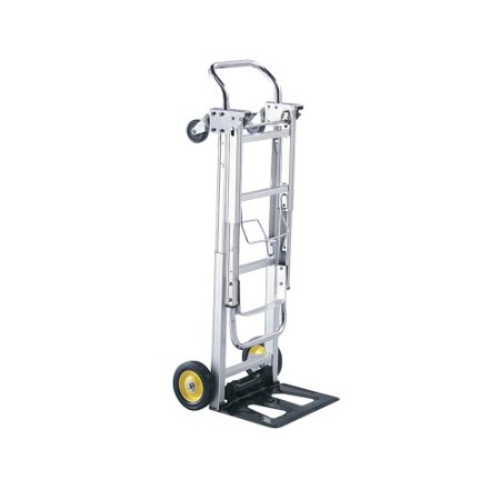 - Safco Products 4050 Hide-Away Convertible Utility Hand Truck, Silver
