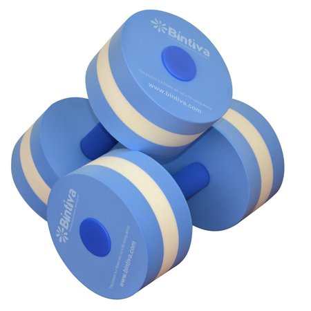Aqua Dumbbell Set - Provides Resistance For Water Aerobics Fitness and Pool Exercises - 1 Pair - 3 Sizes Available - Small