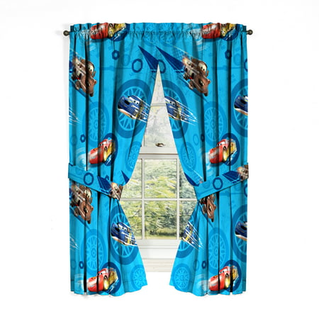 Cars 2 City Limits Bedroom Curtains Panels, Set of 2