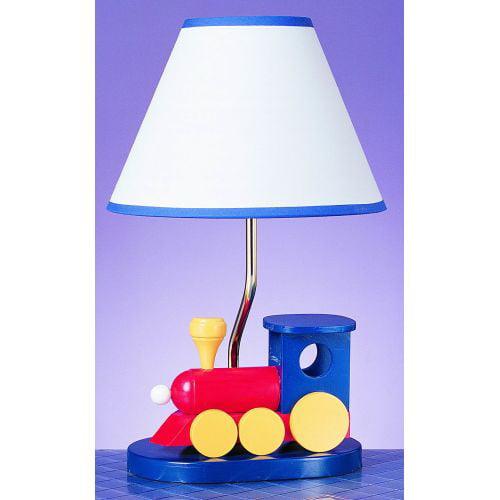 "Cal Lighting BO-373 60 Watt 15"" Kids   Youth Wood Train Table Lamp with On Off S by CAL Lighting"