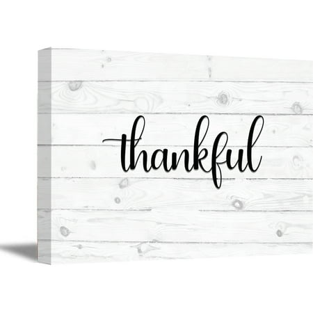 Awkward Styles Thankful Grateful Blessed Wooden Canvas Art Religious Quotes Wall Decor Inspirational Quote Art Motivational Gifts Office Decor Calligraphy Wall Art Thankful Grateful Blessed Canvas -
