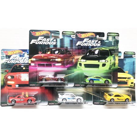 2019 Hot Wheels Fast & Furious Original Fast Premium Complete Set of 5 1/64 Diecast Model Cars (Cars In Fast And Furious 7 With Names)