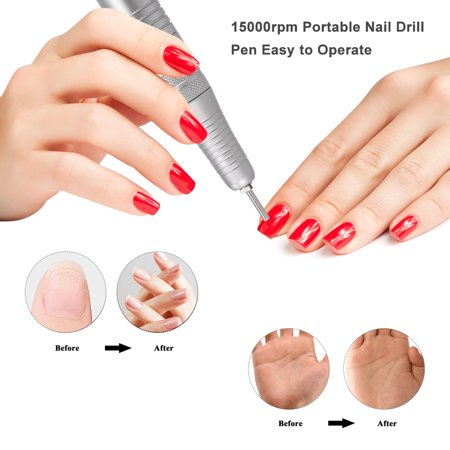 Electric Nail Drill Machine for Manicure USB Port Nail Drill Pen 15000rpm Portable Easy to Operate Adjustable Speed - image 3 of 5