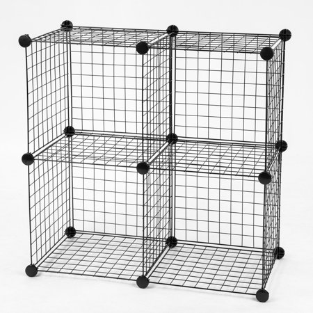 - IRIS Wire Storage Cube, Black Set of 4