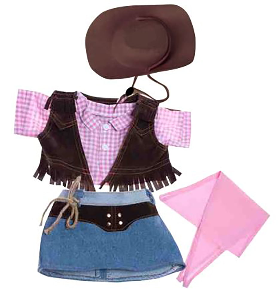 """Pink Sundress with Straw Hat Outfit Fits Most 14/""""-18/"""" Build-A-Bear and Make Your"""